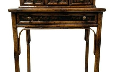 """THEODORE ALEXANDER BAMBOO SIDE TABLE DESK 37"""""""