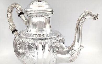 Teapot (1) - .800 silver - Italy - First half 20th century