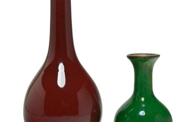 Two Chinese Monochrome Vases