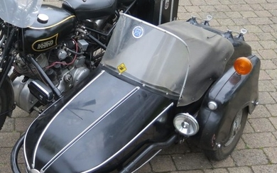 Watsonian GP sidecar with fittings, black, previously attach...