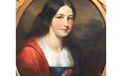 William Crawford (1825-1869) Portrait of Miss Mucklaw Oil on...