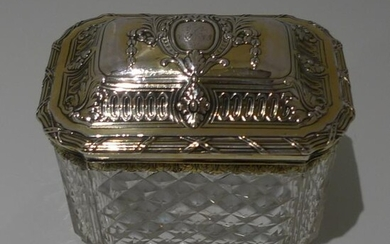 18th Century Antique George III Silver Gilt and Crystal
