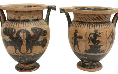 (2) GREEK CLASSICAL STYLE COLUMN-KRATERS
