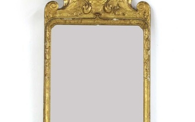 A Queen Anne carved giltwood and gesso pier mirror