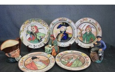 A selection of Royal Doulton plates and figures including a ...