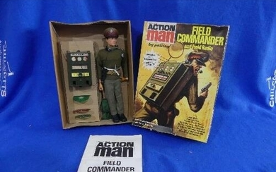 Action Man; A boxed 1974 Field Commander and Field Radio fig...