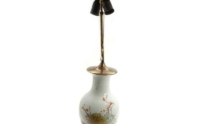 NOT SOLD. An early 20th century Chinese porcelain vase. Mounted as a table lamp. H. incl. mounting 84 cm. – Bruun Rasmussen Auctioneers of Fine Art