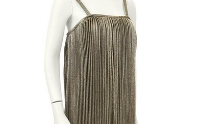Anonymous Gold Pleated Flapper Style Cocktail dress