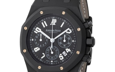 """Audemars Piguet. Rare and Limited Edition Royal Oak """"LA BOUTIQUE 40 E. 57TH NEW YORK"""" in PVD, Reference 26014SN, With Box and Papers"""