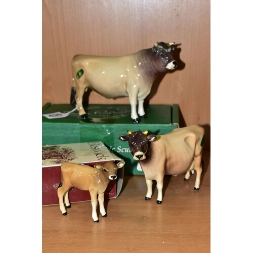 BESWICK JERSEY CATTLE, comprising boxed Bull Ch. Dunsley Coy...