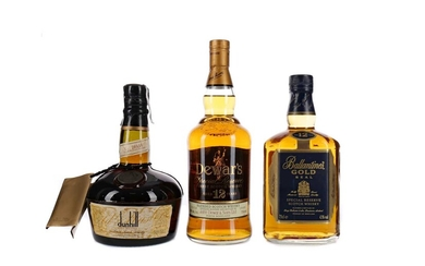 DUNHILL OLD MASTER, DEWAR'S AGED 12 YEARS AND BALLANTINE'S GOLD SEAL AGED 12 YEARS