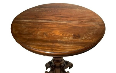 Extendable oval table in mahogany wood, four-spoke foot