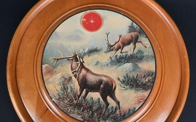 GERMAN SHOOTING TARGET WITH OUTDOOR STAG SCENE