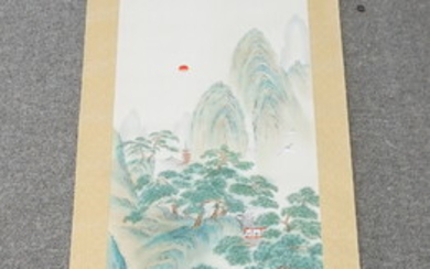 HAND PAINTED LANDSCAPE SCROLL