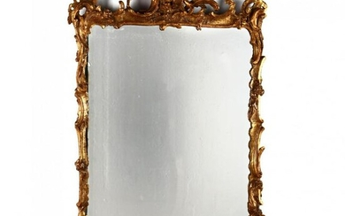 Italian Rococo Style Carved and Gilt Mirror