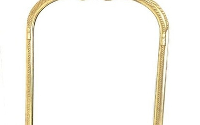 Large late 20th century gilt framed over mantle mirror...