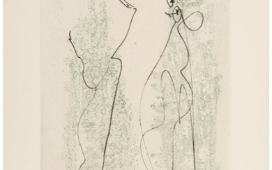 Max Ernst (1891-1976) Two Etchings, from Les Chi