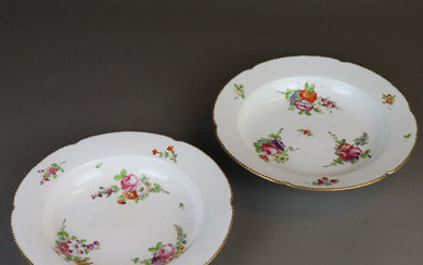 PAIR OF PLATES - Volkstedt-Thuringia.