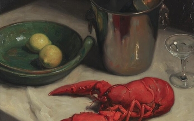 """Paul Wante """"Untitled (Still life with lobster"""
