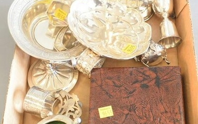 Sterling Silver Tray Lot to include bowls, napkin