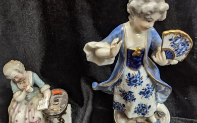 Two porcelain figures: one by Volkstedt and one in the