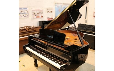 Yamaha (c2010) A 5ft 3in Model C1 grand piano in a bright eb...