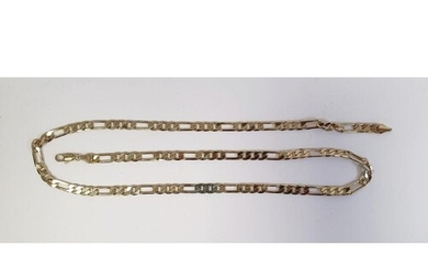 ******* WITHDRAWN ******* 18ct gold chain link necklace, 21g...