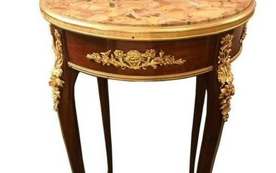 19th C. F. Linke Round Side Table