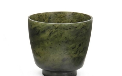 A Chinese nephrite jade cup