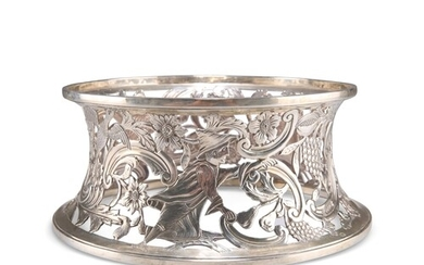A GEORGE III STYLE SILVER DISH RING, by George Nathan & Ridl...
