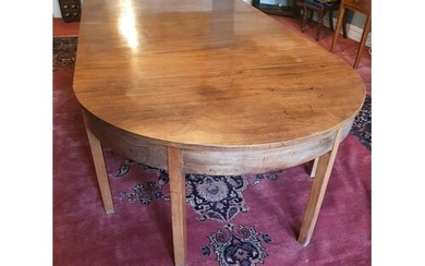A Georgian Mahogany Dining room Table of simple form with tw...