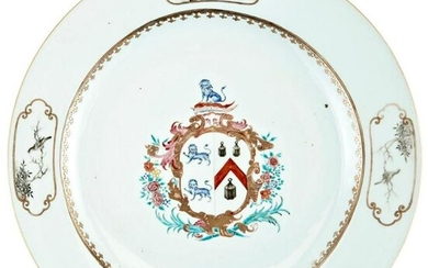 A Large and Fine Chinese Armorial Porcelain Charger