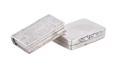 A William IV silver book vinaigrette by Taylor & Perry