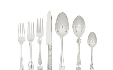A collection of 18th and 19th century silver flatware