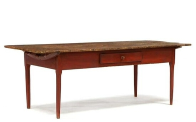 American Country Federal Painted Pine Farm Table