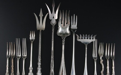 American and English Sterling Silver and Silver Plate Forks
