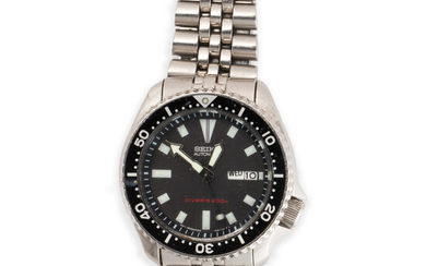 An automatic scuba driver stainless steel wristwatch, Seiko