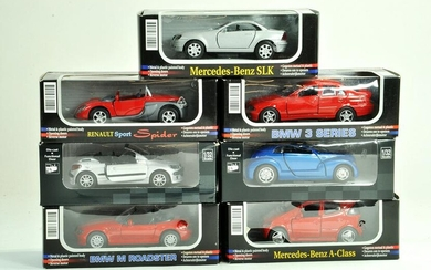 An interesting group of 1/32 diecast cars comprising