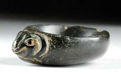 Ancient Chinese Hongshan Double Beast Stone Bowl