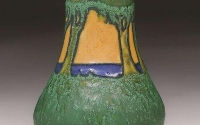 Arequipa Pottery Frederick Rhead Squeeze-Bag Vase 1912