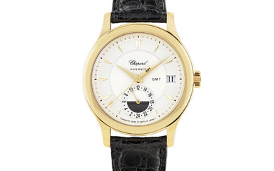 CHOPARD, LIMITED EDITION GOLD, DUAL TIME WITH DATE, NO.0043/1860