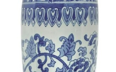 Chinese vase in white shades with blue floral