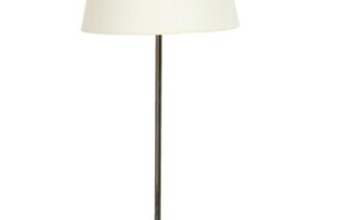 NOT SOLD. Danish design: A brass floor lamp with white acrylic shade. 1930-40s. H. incl. shade 142 cm. – Bruun Rasmussen Auctioneers of Fine Art