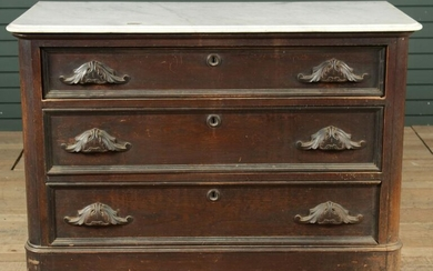 Empire Style Marble Top Chest of Drawers