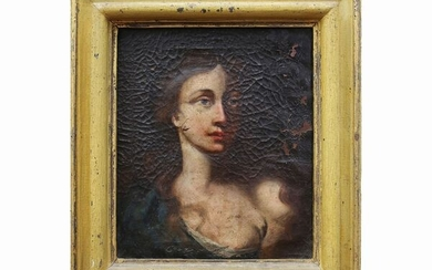 Female bust with low-necked dresses, Scuola toscana 17th century (?)