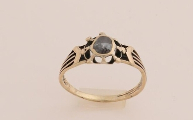 Gold ring with old diamond