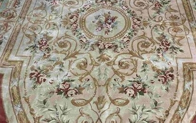 Hand Knotted Chinise Rug 13.2x9.5 ft