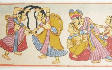 Indian Folk-Style Miniature Painting, 19th C.