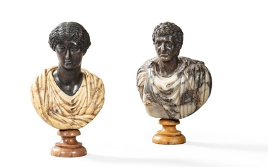 Italian, probably Roman late 18th century, A couple of Roman Emperors   Italie, probablement Rome fin XVIIIe siècle, Couple d'Empereurs romains, Italian, probably Roman late 18th century, A couple of Roman Emperors   Italie, probablement Rome fin...