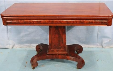 Large flame mahogany game table